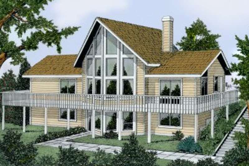 Home Plan - Contemporary Exterior - Front Elevation Plan #92-201