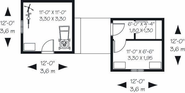 Traditional Floor Plan - Main Floor Plan Plan #23-762