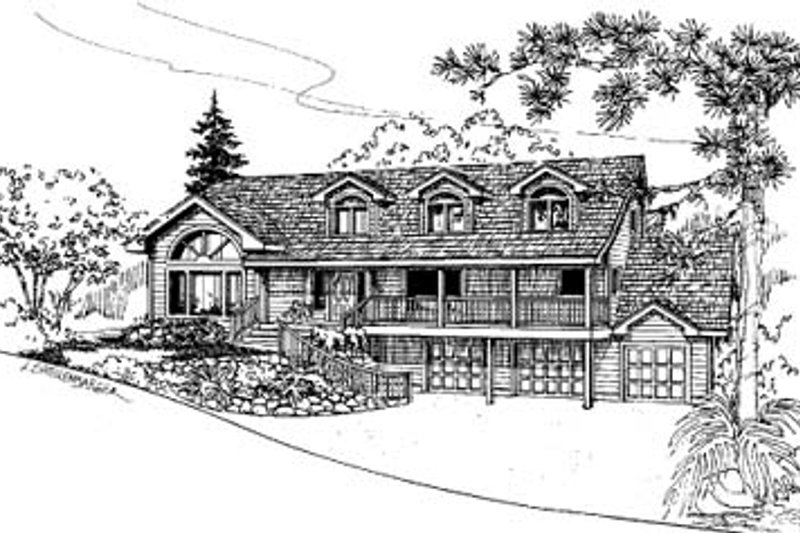 Dream House Plan - Traditional Exterior - Front Elevation Plan #60-594
