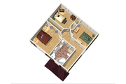 Traditional Style House Plan - 3 Beds 1 Baths 1352 Sq/Ft Plan #25-4414 Floor Plan - Upper Floor