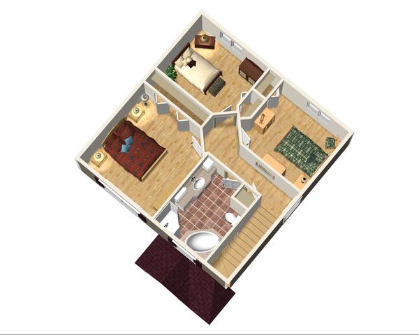Traditional Floor Plan - Upper Floor Plan Plan #25-4414