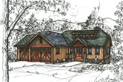 Craftsman Style House Plan - 3 Beds 2.5 Baths 1836 Sq/Ft Plan #921-22 Exterior - Front Elevation