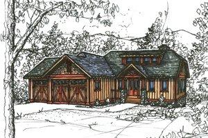Craftsman Exterior - Front Elevation Plan #921-22