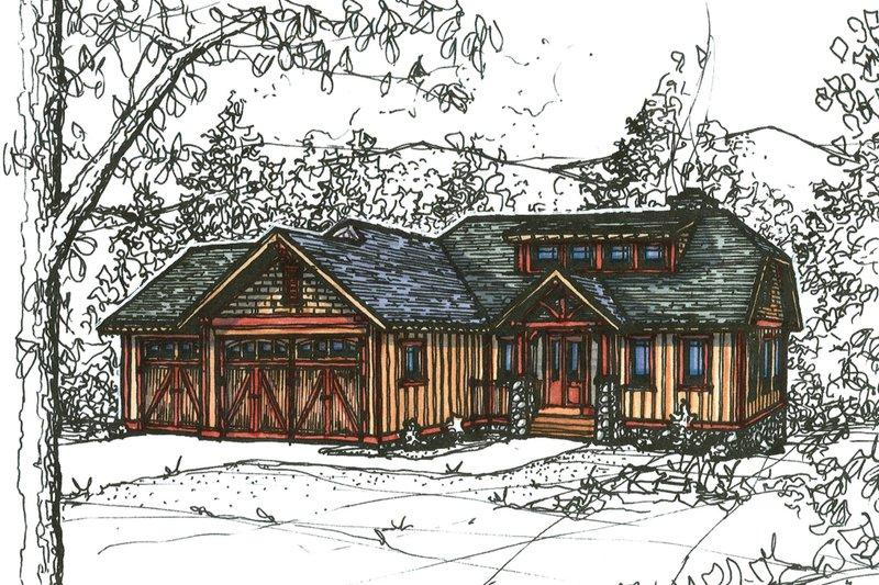 Craftsman Style House Plan - 3 Beds 2.5 Baths 1836 Sq/Ft Plan #921-22