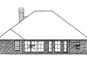 Traditional Style House Plan - 4 Beds 3.5 Baths 2359 Sq/Ft Plan #310-364 Exterior - Rear Elevation