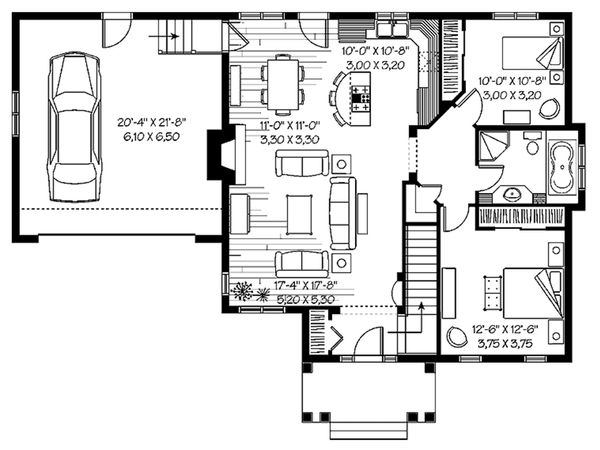 Bungalow Floor Plan - Main Floor Plan Plan #23-2611