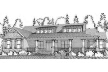 Craftsman Exterior - Rear Elevation Plan #63-371