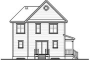 Country Style House Plan - 3 Beds 1.5 Baths 1604 Sq/Ft Plan #23-2107 Exterior - Rear Elevation