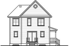 House Plan Design - Country Exterior - Rear Elevation Plan #23-2107