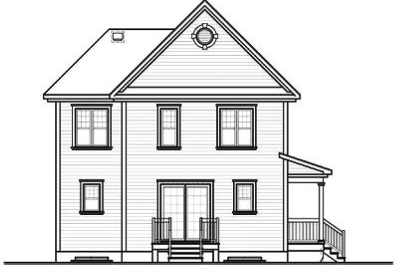 Country Exterior - Rear Elevation Plan #23-2107 - Houseplans.com