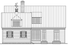 Southern Exterior - Rear Elevation Plan #137-265