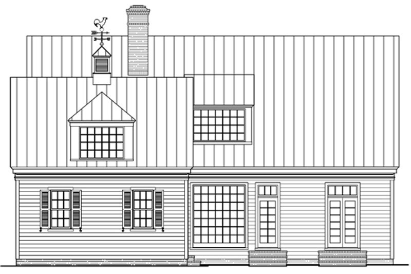 Southern Exterior - Rear Elevation Plan #137-265 - Houseplans.com