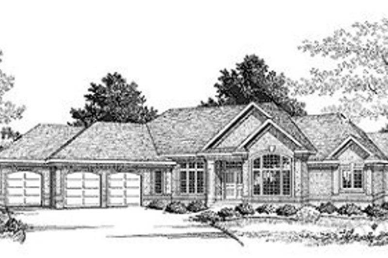 Traditional Style House Plan - 3 Beds 2 Baths 2350 Sq/Ft Plan #70-371 Exterior - Front Elevation