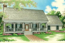 Dream House Plan - Traditional Exterior - Front Elevation Plan #45-116