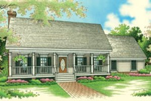 Architectural House Design - Traditional Exterior - Front Elevation Plan #45-116