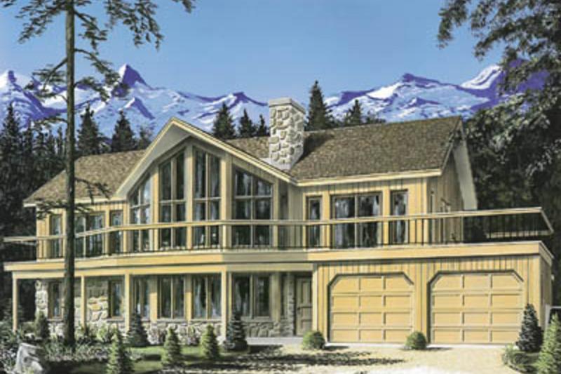 Contemporary Exterior - Front Elevation Plan #23-2022 - Houseplans.com