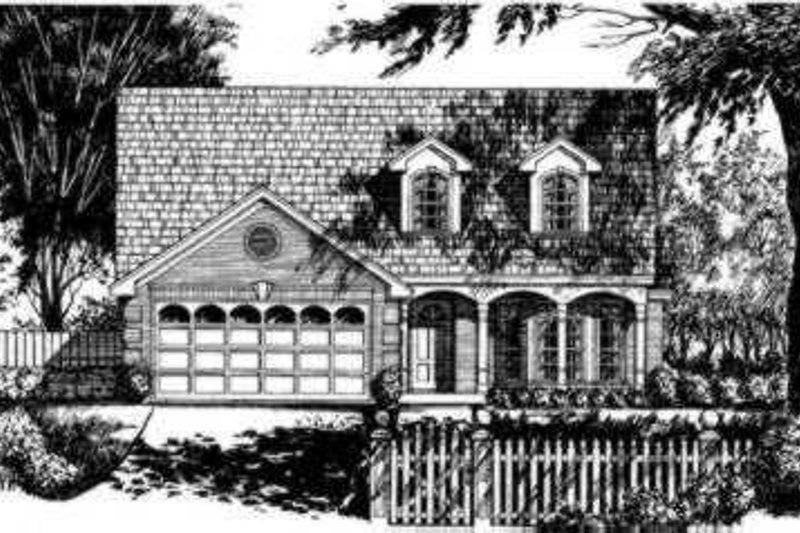 Traditional Exterior - Front Elevation Plan #40-268 - Houseplans.com
