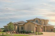 Mediterranean Style House Plan - 4 Beds 3.5 Baths 3140 Sq/Ft Plan #80-126 Exterior - Other Elevation