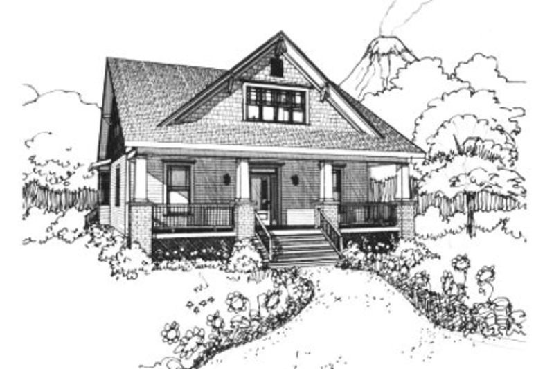 Craftsman Style House Plan - 3 Beds 2.5 Baths 1891 Sq/Ft Plan #79-264 Exterior - Front Elevation