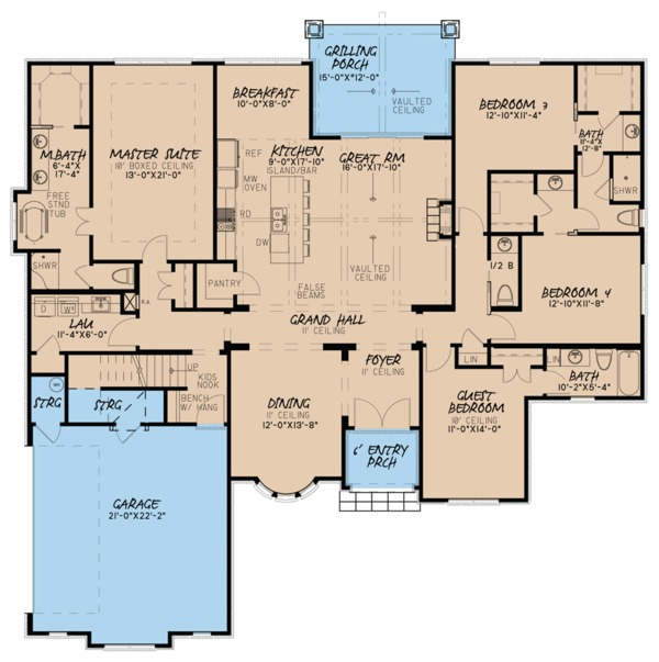 European Floor Plan - Main Floor Plan Plan #923-60