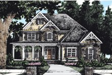 Craftsman Exterior - Front Elevation Plan #927-1