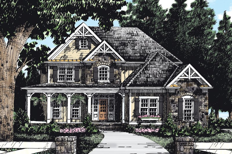 Craftsman Exterior - Front Elevation Plan #927-1 - Houseplans.com