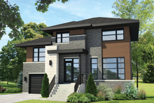 House Plan Design - Contemporary Exterior - Front Elevation Plan #25-4298