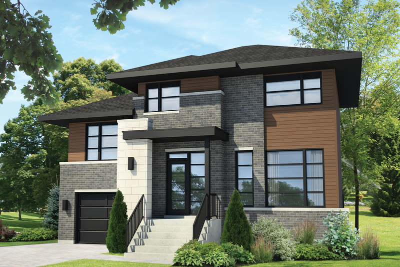 Home Plan - Contemporary Exterior - Front Elevation Plan #25-4298