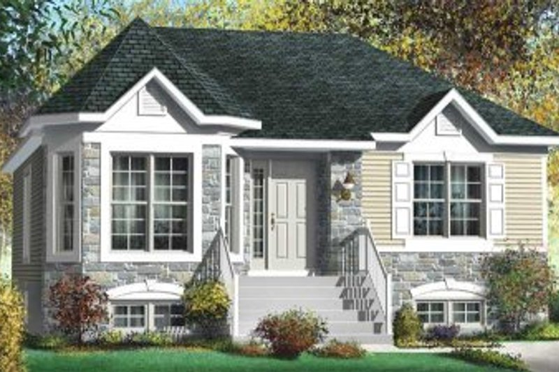 Cottage Style House Plan - 3 Beds 1 Baths 1153 Sq/Ft Plan #25-4119 Exterior - Front Elevation