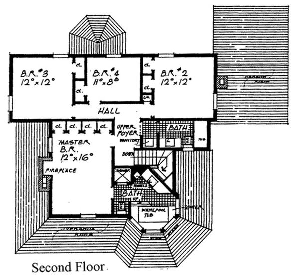 Victorian Floor Plan - Upper Floor Plan #315-105