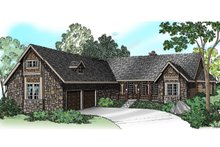 Ranch Exterior - Front Elevation Plan #124-383