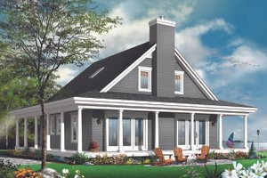 Cottage Exterior - Rear Elevation Plan #23-2701