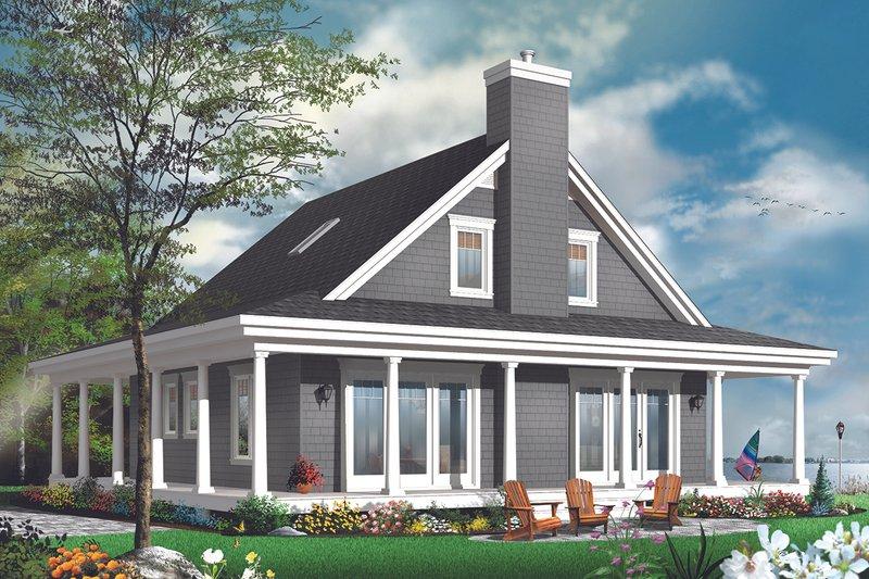 Dream House Plan - Cottage Exterior - Rear Elevation Plan #23-2701