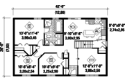 Country Style House Plan - 3 Beds 1 Baths 1092 Sq/Ft Plan #25-4838 Floor Plan - Main Floor Plan