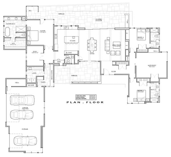 Architectural House Design - Traditional Floor Plan - Main Floor Plan #892-25