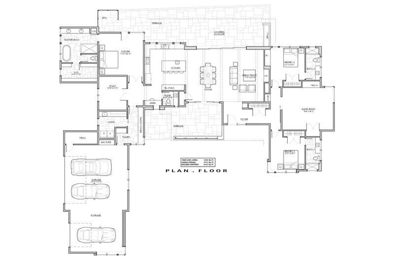 Traditional Floor Plan - Main Floor Plan Plan #892-25