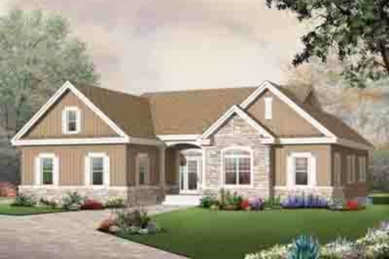 Traditional Exterior - Front Elevation Plan #23-648 - Houseplans.com