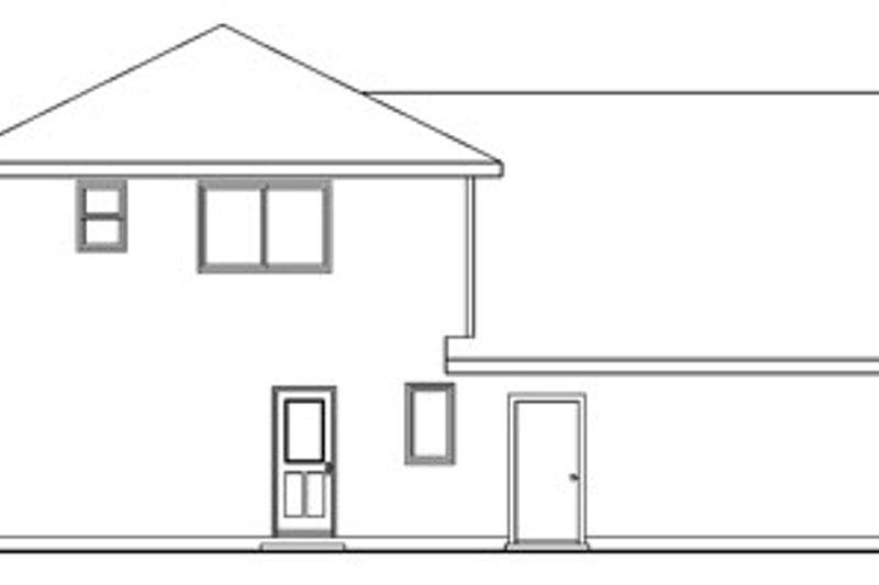 Craftsman Exterior - Rear Elevation Plan #124-755 - Houseplans.com