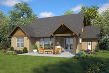 Ranch Exterior - Rear Elevation Plan #48-948
