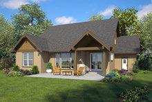 Dream House Plan - Ranch Exterior - Rear Elevation Plan #48-948
