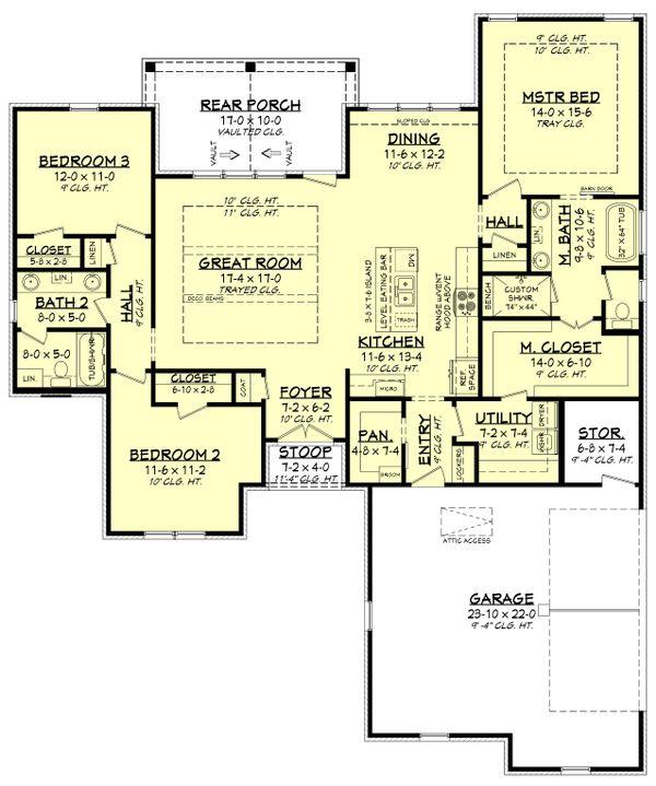 Dream House Plan - Traditional Floor Plan - Main Floor Plan #430-214