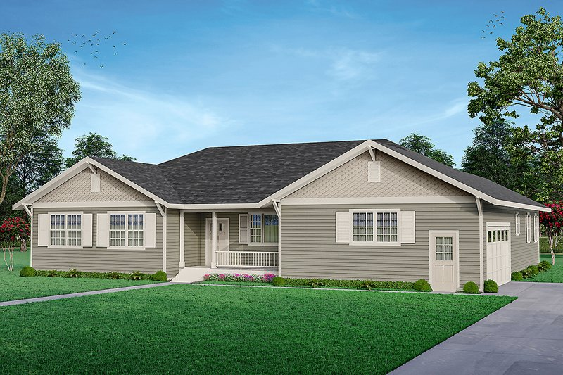 House Plan Design - Ranch Exterior - Front Elevation Plan #124-1265