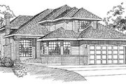 Traditional Style House Plan - 3 Beds 3 Baths 2622 Sq/Ft Plan #47-301 Exterior - Front Elevation