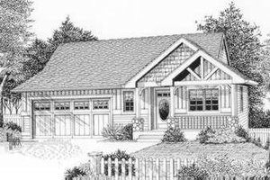 Bungalow Exterior - Front Elevation Plan #53-365