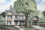 Traditional Style House Plan - 5 Beds 2.5 Baths 3046 Sq/Ft Plan #17-2100 Exterior - Front Elevation
