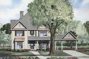 Traditional Exterior - Front Elevation Plan #17-2100