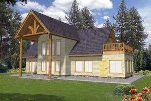 Home Plan - Exterior - Front Elevation Plan #117-387