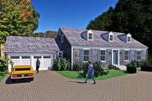 Home Plan - Colonial Exterior - Front Elevation Plan #489-9