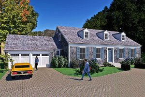 Colonial Exterior - Front Elevation Plan #489-9