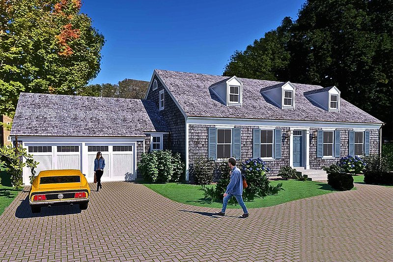 Colonial Style House Plan - 4 Beds 3 Baths 2892 Sq/Ft Plan #489-9 Exterior - Front Elevation